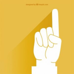 pointing-finger-over-yellow-background