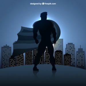 superhero-silhouette
