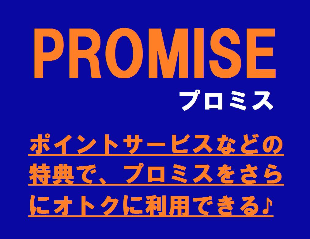 ポイントサービスなどの特典で、プロミスをさらにオトクに利用できる♪